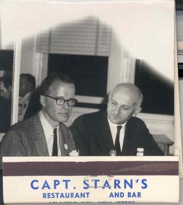 John Backus and John Cocke at Capt. Starn's Restaurant and Bar, Atlantic City, New Jersey